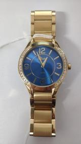 Relógio Condor Feminino Dourado Azul Co2035krg/4a Vitrine