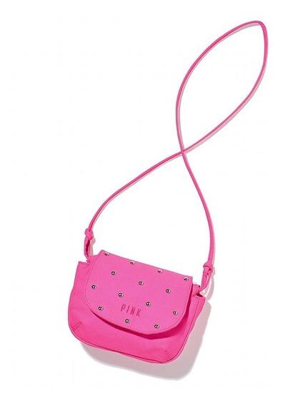 Cartera Bandolera Fucsia Tacha Pink Original Victoria Secret