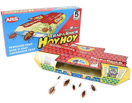 Armadilha Atóxica Pega Baratas Trap A Roach Com 5 Unidades