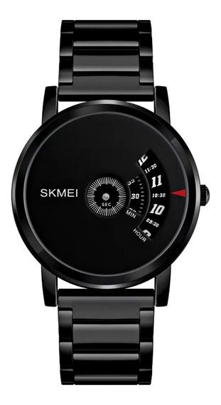 Relógio Masculino Aço Inox Luxo Social Caixa Fina Pequeno