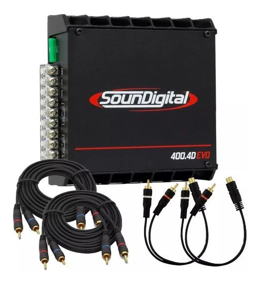 Módulo Soundigital Sd 400.4d Evolution 400w Rms 4 Canais
