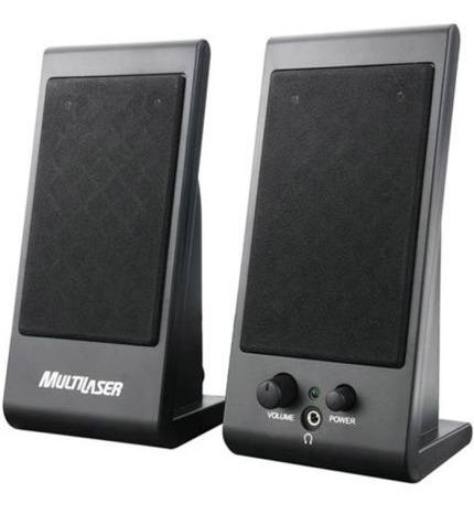 Mini Caixas De Som Multilaser Sp009 Speaker Flat 3w Rms Usb
