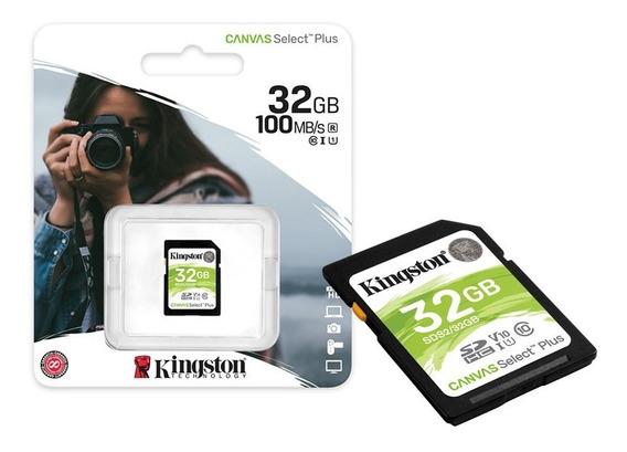 Cartão Memória Sdhc 32gb Canvas Select Plus Cl.10 Kingston