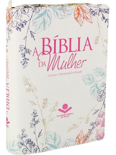 Imagem 1 de 8 de Bíblia De Estudo Da Mulher Zíper Cp Florida Lançamento Sbb