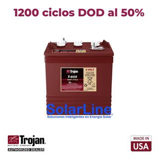 Batería Trojan 6v 210ah T605 C20 P/ Paneles Solares Fotovolt