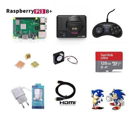 Mega Drive Mini Retroflag Completo Sd 128gb + 1 Controle