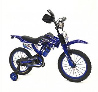 Bicicleta Infantil Moto Cross Rodado 20 Cod7113 Negro