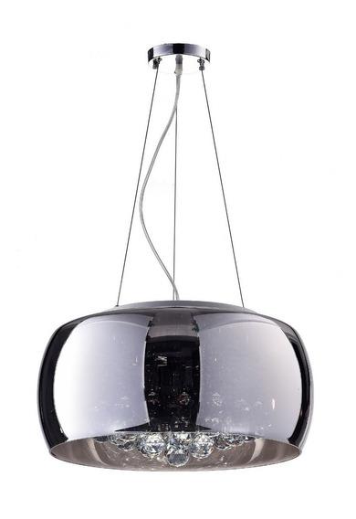 Lustre Pendente Cristal Vidro 40cm Para Sala Mesa Jantar
