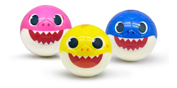 Pelotas De Goma Blanda Baby Shark - 3 Modelos