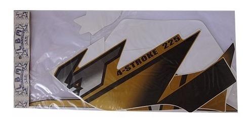Jogo De Faixas Xt 225 02 Dourada - Lbm