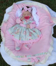 Saída Maternidade Menina Rosa Charmosa 5 Peças