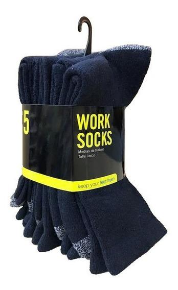 Pack 5 Pares De Medias De Trabajo Halcón Reforzadas Calzado