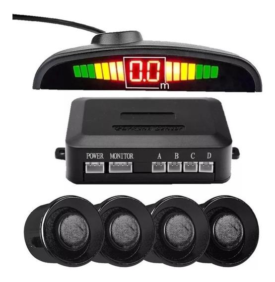 Sensor De Estacionamento Ré 4 Sensores Display Aviso Sonoro