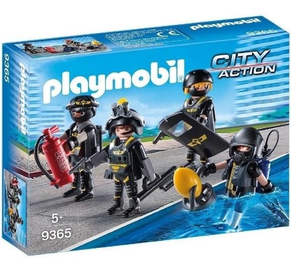 Playmobil 9365 City Policia Equipo De Fuerzas Especiales