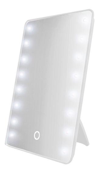 Espejo Con Luz Led P/ Maquillaje Color Blanco E151