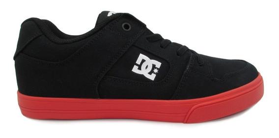 Tenis Dc Shoes Pure Elastic Tx Adbs300276 Blr Black Red Negr