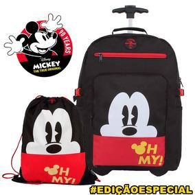 Mochila De Carrinho Do Mickey Mouse Disney E Saco Esportivo