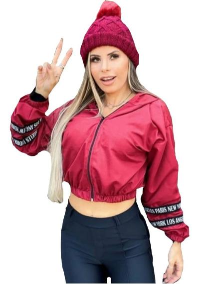 Corta Vento Jaqueta Blusa Blusinha Feminina Jaqueta Capuz
