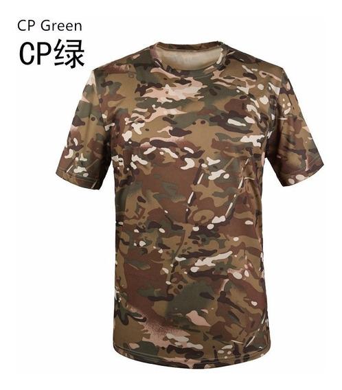 Remeras Spandex Militares Camufladas M / L Importadas