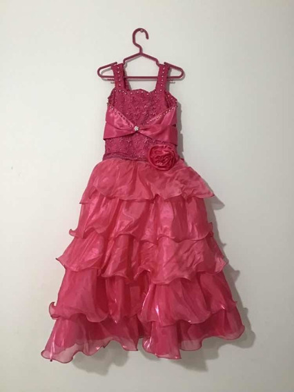Vestido De Promoción Inicial Color Chicle