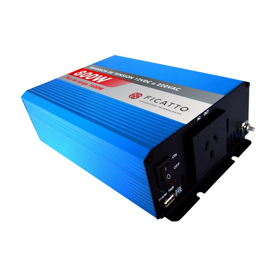 Inversor Corriente 12v/220v 800w Inverter Ficatto Full