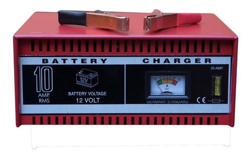 Cargador De Bateria 10amp Motos Autos Nafta Diesel