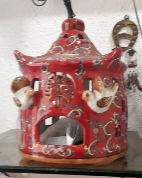 Comedouro P/ Aves Estilo Casa Oriental Alt 20cm 50 Circunfer