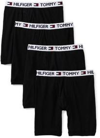 Tommy Hilfiger Hombre 4 Pack Boxer Brief, Negro, Xx-grande