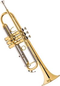 Trompete Eagle Em Sib Tr504 Com Case Luxo 12x Sem Juros