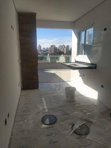 Imagem 1 de 15 de Cobertura Com 2 Dormitórios À Venda, 95 M² Por R$ 375.000,00 - Vila Scarpelli - Santo André/sp - Co0389