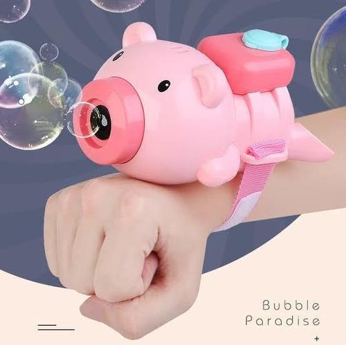 Maquina De Burbujas - Pulsera Modelo Chanchito Luces Sonido