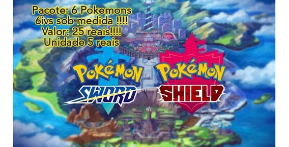 Time De 6 Pokemons 6ivs Sob Encomenda!monte Do Seu Jeito!!!