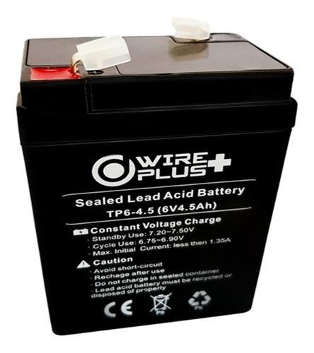 Imagen 1 de 3 de Batería 6v 4.5ah Ups Lámpara Alarma Y Cercos Eléctricos