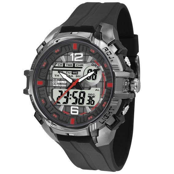 Relógio X-games Anadigi Cromado Masculino - Xmppa234 Bxpx
