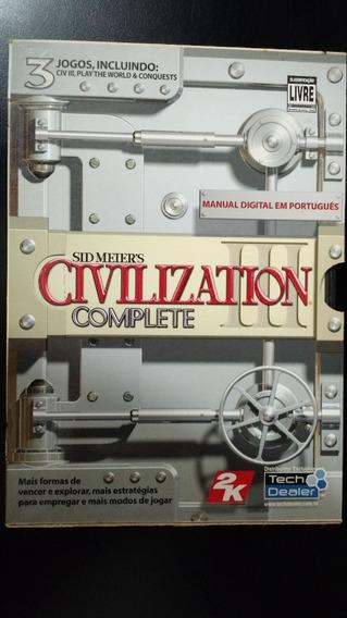 Jogo Civilization 3 Complete - Original - 4 Cds