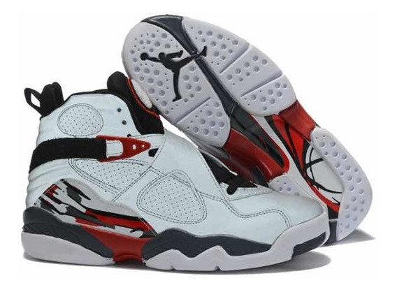 Tenis Air Jordan 8 Retrô Whitered