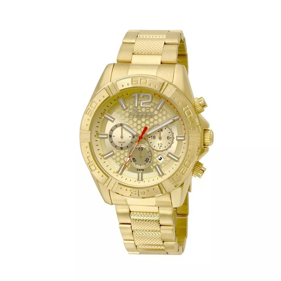 Relógio Masculino Dourado Grande Condor Covd33ar/4d Robusto