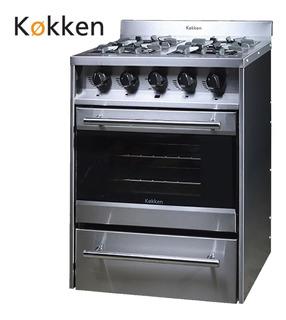 Cocina Industrial Kokken 60 Cm - 4 H Vidrio Y Termostato