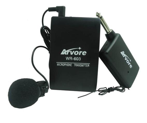 Kit Microfone Auricular Sem Fio Wireless Profissional Lapela