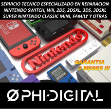 Servicio Técnico Nintendo Switch Wii 2ds 3ds Snes Family