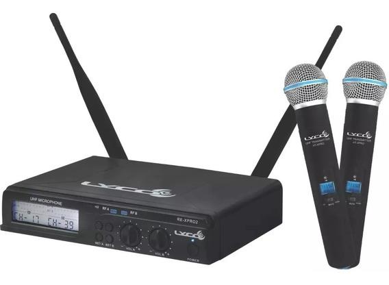 Microfone Dinâmico Lyco Uhxpro-02mm Sem Fio