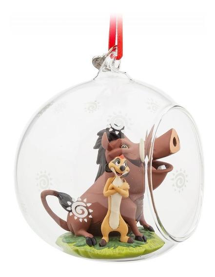 Figura Timon Y Pumba Bola De Cristal Ornamental Disney Store