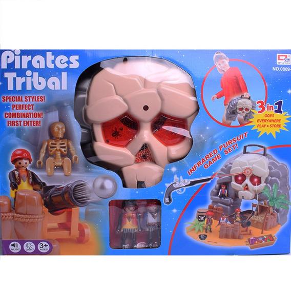Juego De Piratas Con Luz Y Sonido 3 En 1 Tipo Playmobil