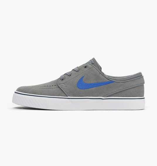 Tênis Nike Zoom Stefan Janoski Cinza E Azul Original 1magnus