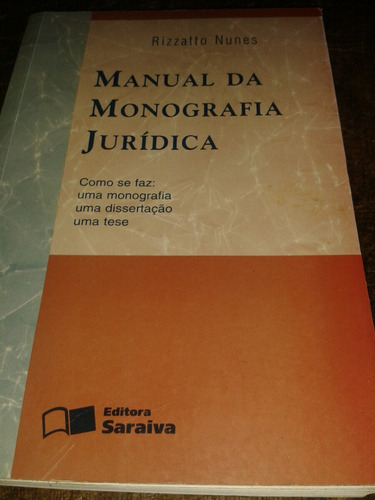 Monografia Jurídica,  Manual
