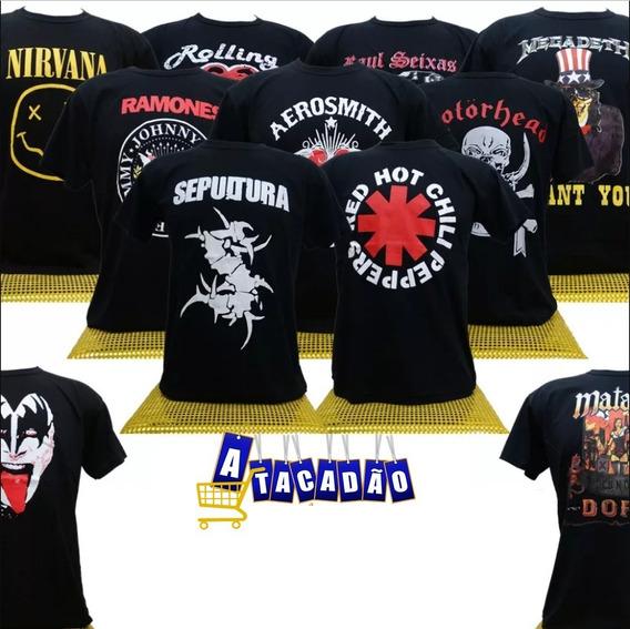 Camiseta Masculina Estampa Sortida Black Sabbath Banda Rock