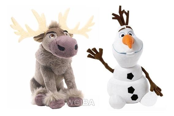 2 Pelucia Musical Disney Frozen Olaf E Sven - Pronta Entrega