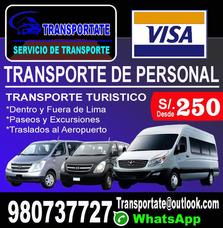 Transporte De Personal Alquiler De Vans Hyundai H1 Mini Bus