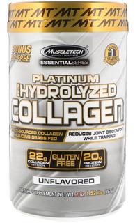 Colágeno 100% Hidrolisado Platinum 11 G Muscletech 62 Doses - Imp Eua
