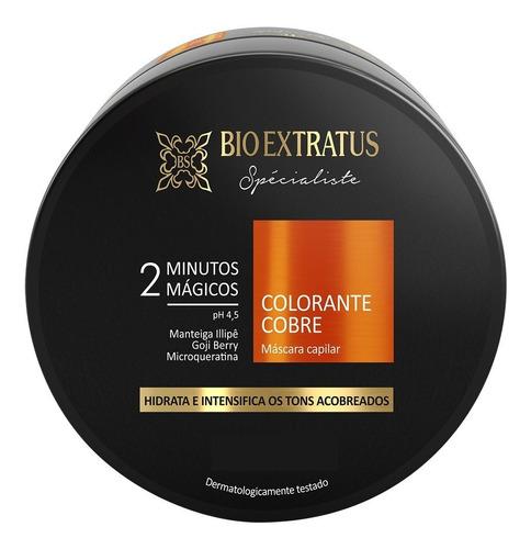 Imagem 1 de 3 de Máscara Colorante Cobre 2 Minutos Mágicos Bio Extratus 250g